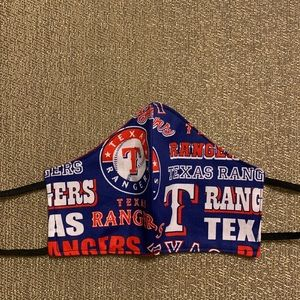 Men MLB Texas Rangers Face Mask